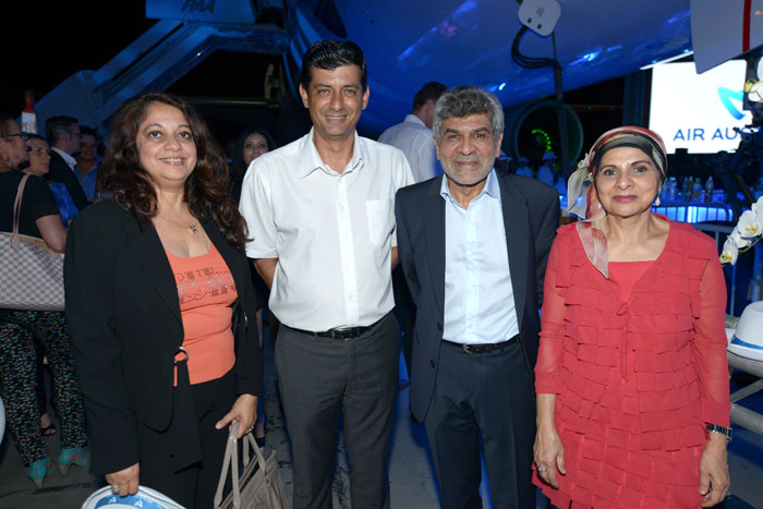 Razia Locate, Jean-Jacques Vlody, député de la troisième circonscription de La Réunion, Adam Ravate, directeur des établissements Ravate et Abeda Patel