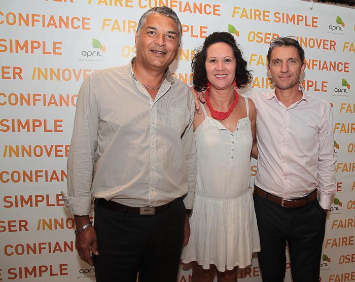 Franck Bachelier, directeur commercial de Réunion Assurances, Magali Pausé, attachée commerciale, et Michel Petiot