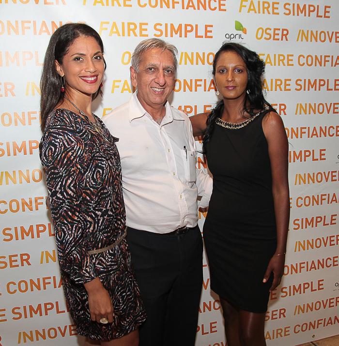 Nastasia Rivière, Aziz Patel de 7magazine.re et Geneviève Virapin