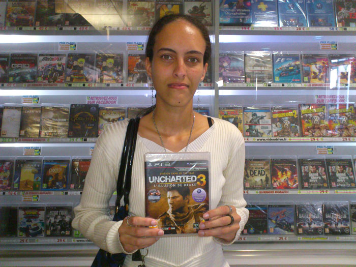 Laure Gaudens a gagner UNCHARTED 3 sur Playstation 3