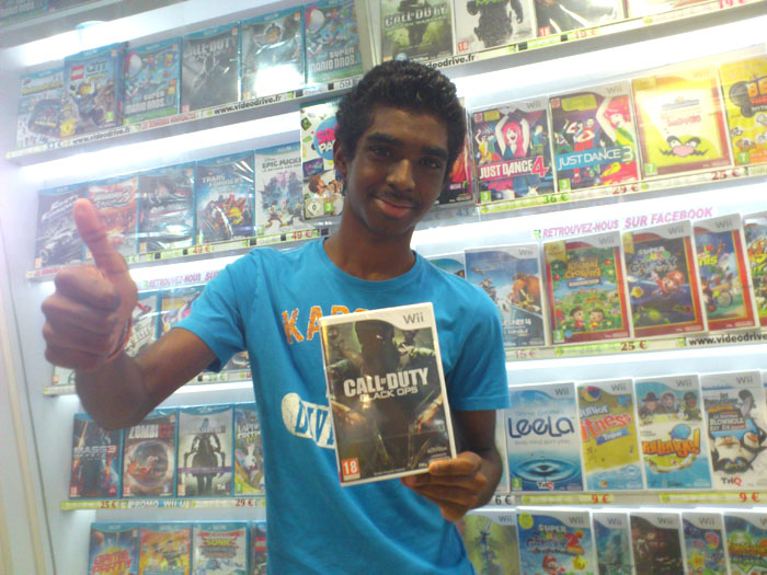 Janagane Alphy a gagné CALL OF DUTY: BLACK OPS sur Wii