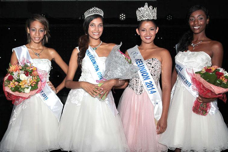 Les lauréates avec Miss Réunion 2014