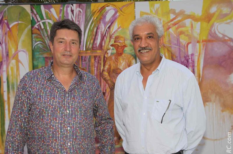 Bruno Sausseau, trésorier FRT, et Azeddine Bouali, président FRT