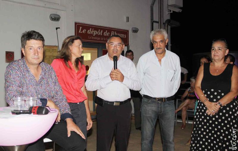 Bruno Sausseau, Virginie K/Bidy, élue en charge du Tourisme à la Région, Bernard Picardo, président de la Chambre des Métiers, Azeddine Bouali, et Danièle Lenormand, directrice de la Saga du Rhum