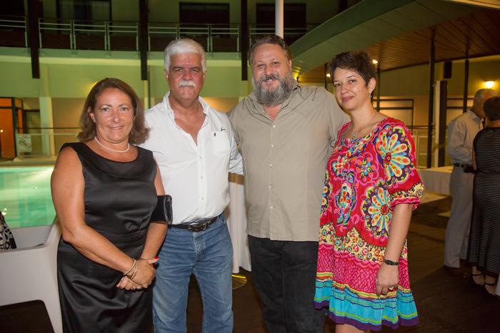 Mme Colette et Bruno Morel, Patrice Baloukjy et son épouse Carine