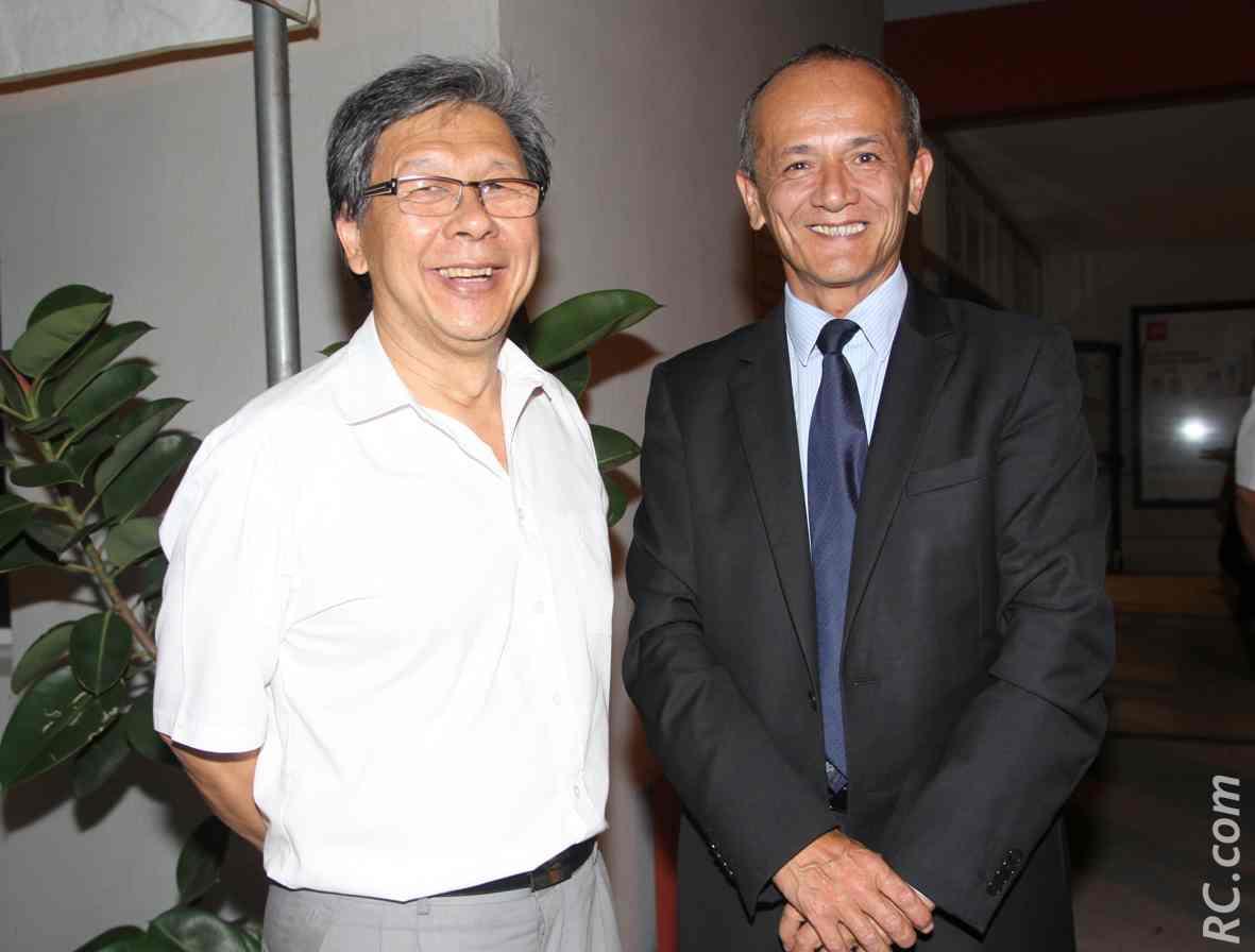 Alex How-Chong, de Logisti-Sud, et Loïc Armand