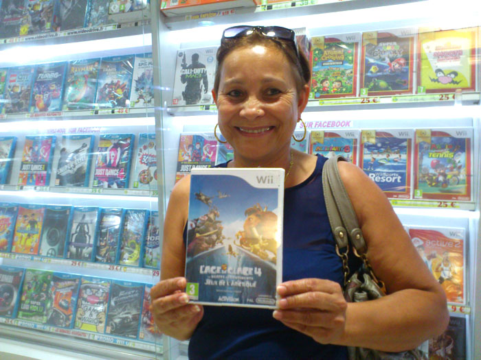 Charlotte Jean-Baptiste a gagné L'AGE DE GLACE 4 sur Nintendo Wii