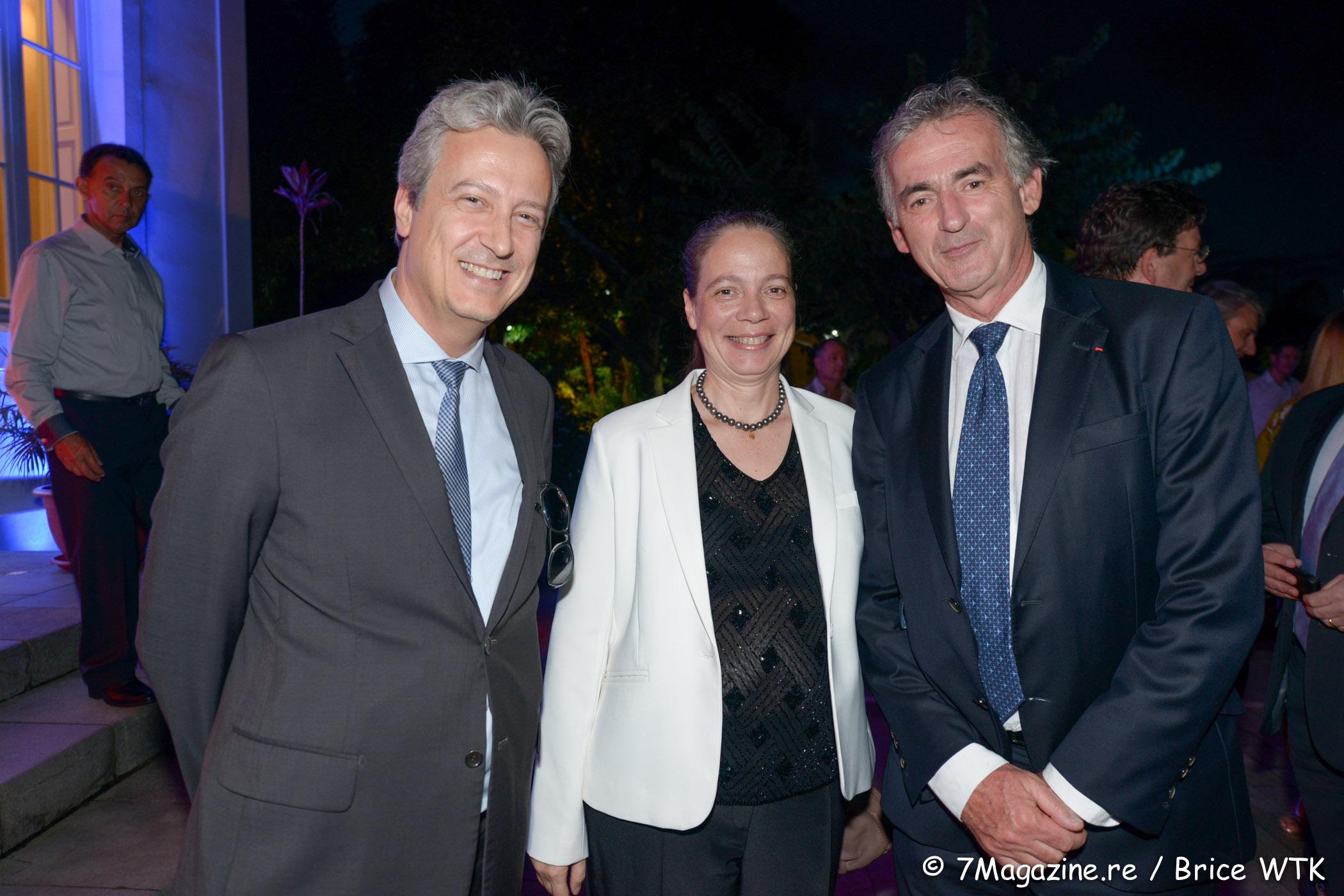 Zoran Zelkic, Catherine Frécaut, directrice de Bourbon Voyages et Frédéric Gagey
