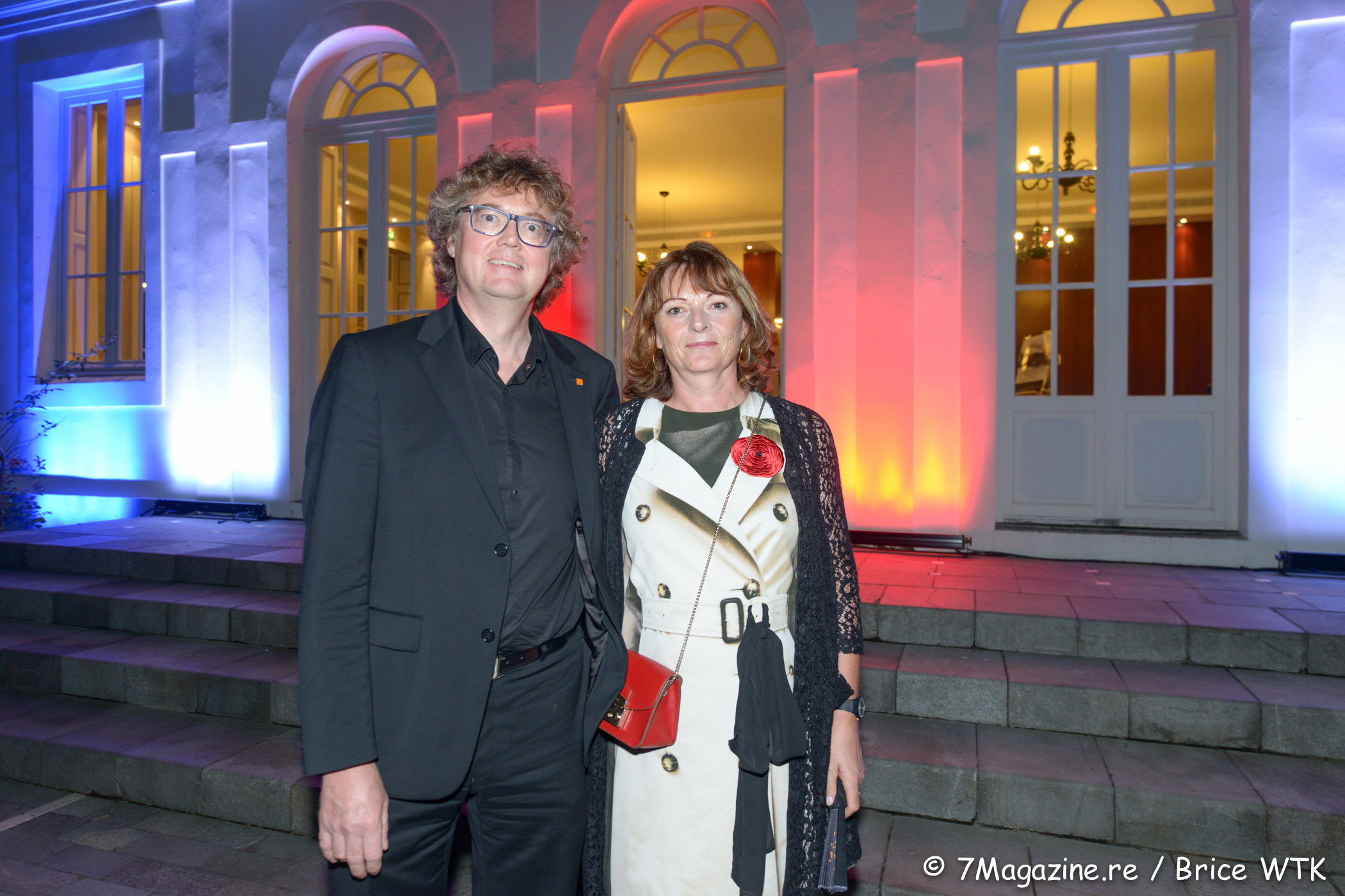 Eric Bouquillon, directeur Réunion-Mayotte d'Orange et son épouse Isabelle