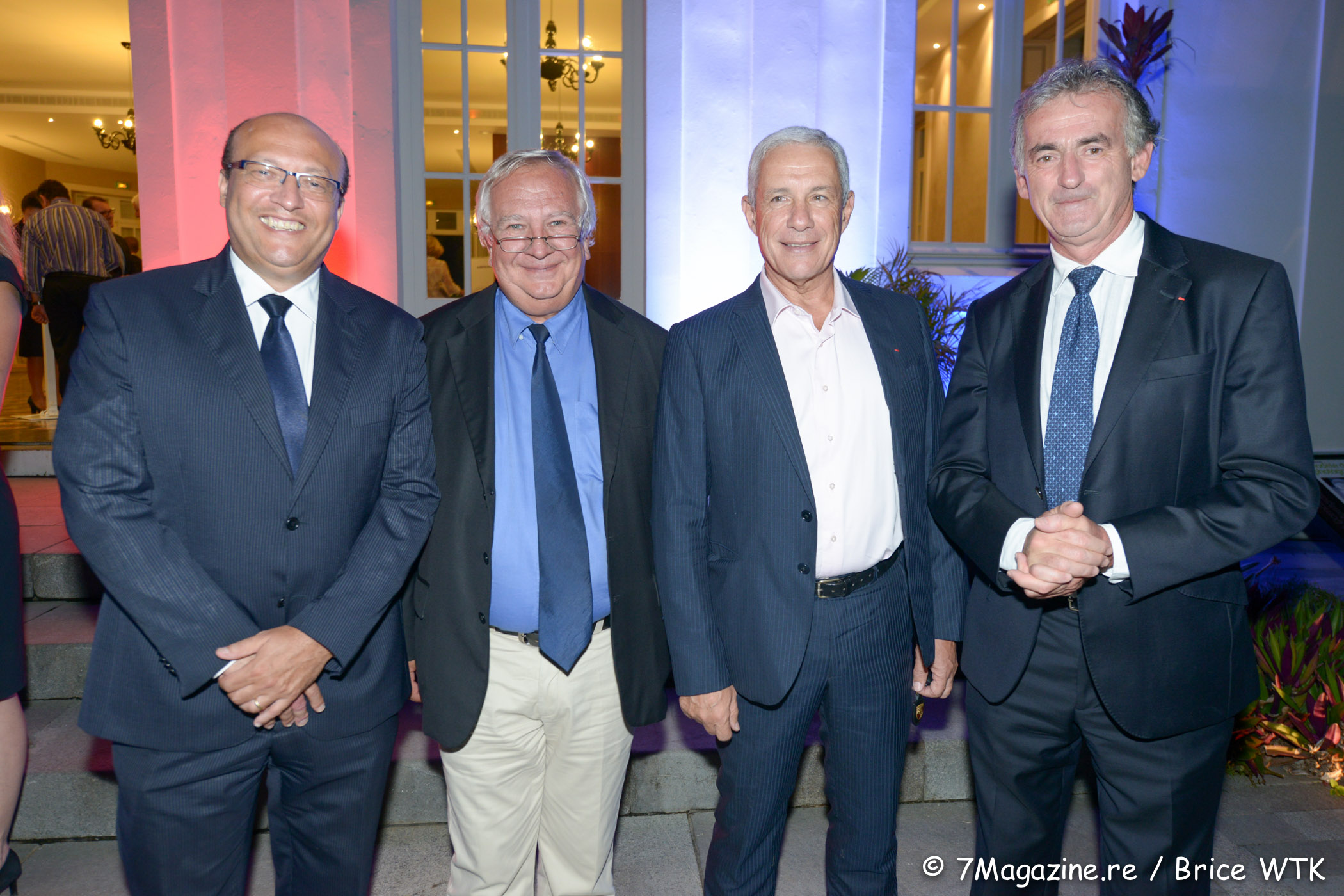 Frédéric Alory, Jean Jacques Roy, chef d'Escale Régional Océan Indien Air France, François Caillé et Frédéric Gagey