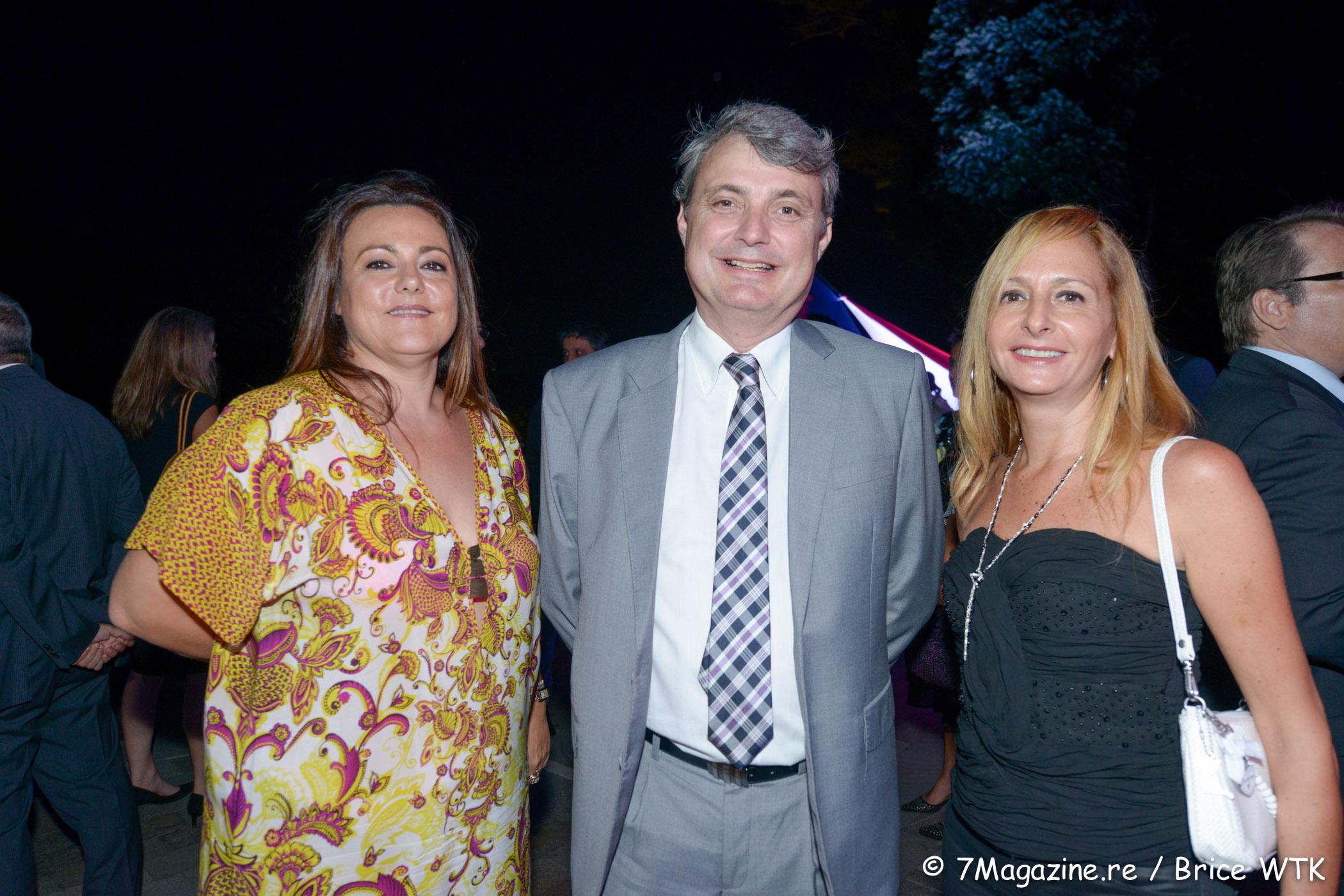 Corine Gilly, directrice de Réunion Compétence, Pierre-Alain Frécaut, expert-comptable, Sandrine Dunand-Roux, déléguée générale du Medef Réunion