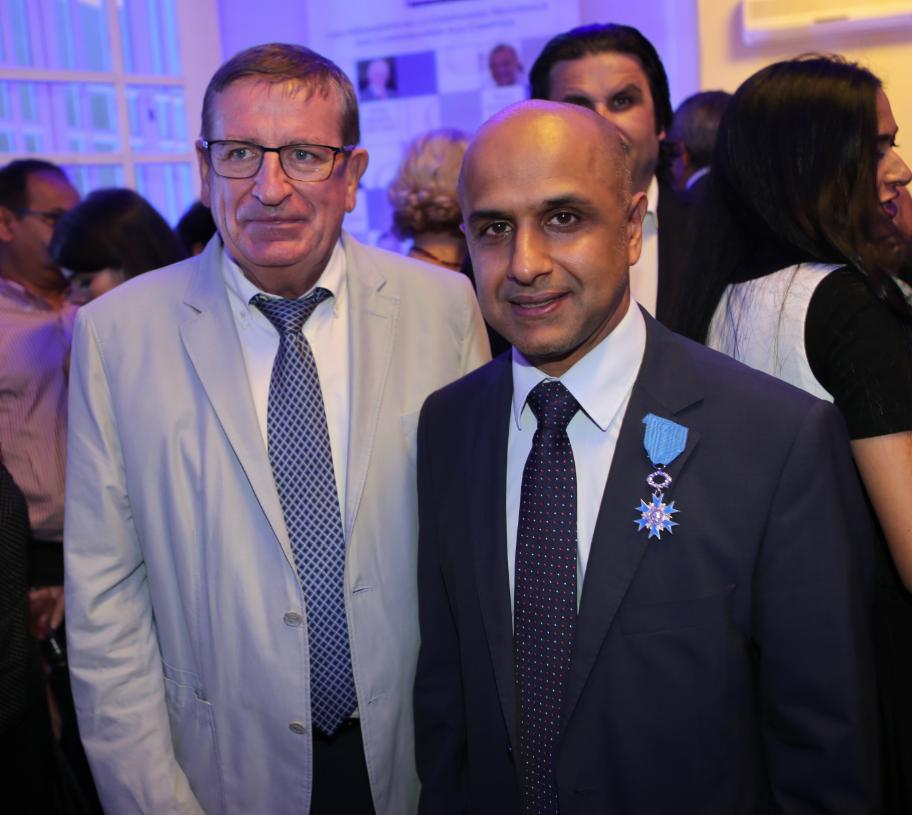 Dominique Fournel, vice-président du Conseil Régional et Aboullah Lala