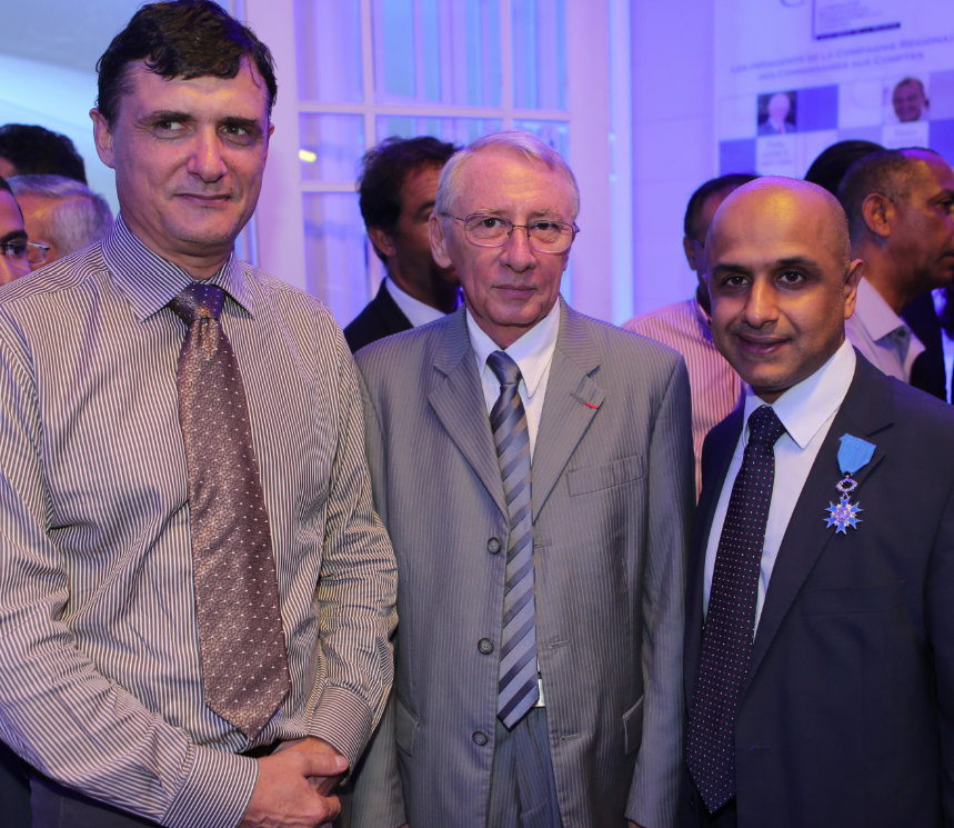 Jérome Isautier, président de l'Adir, Jean-Raymond Mondon, président du Ceser et Aboullah Lala