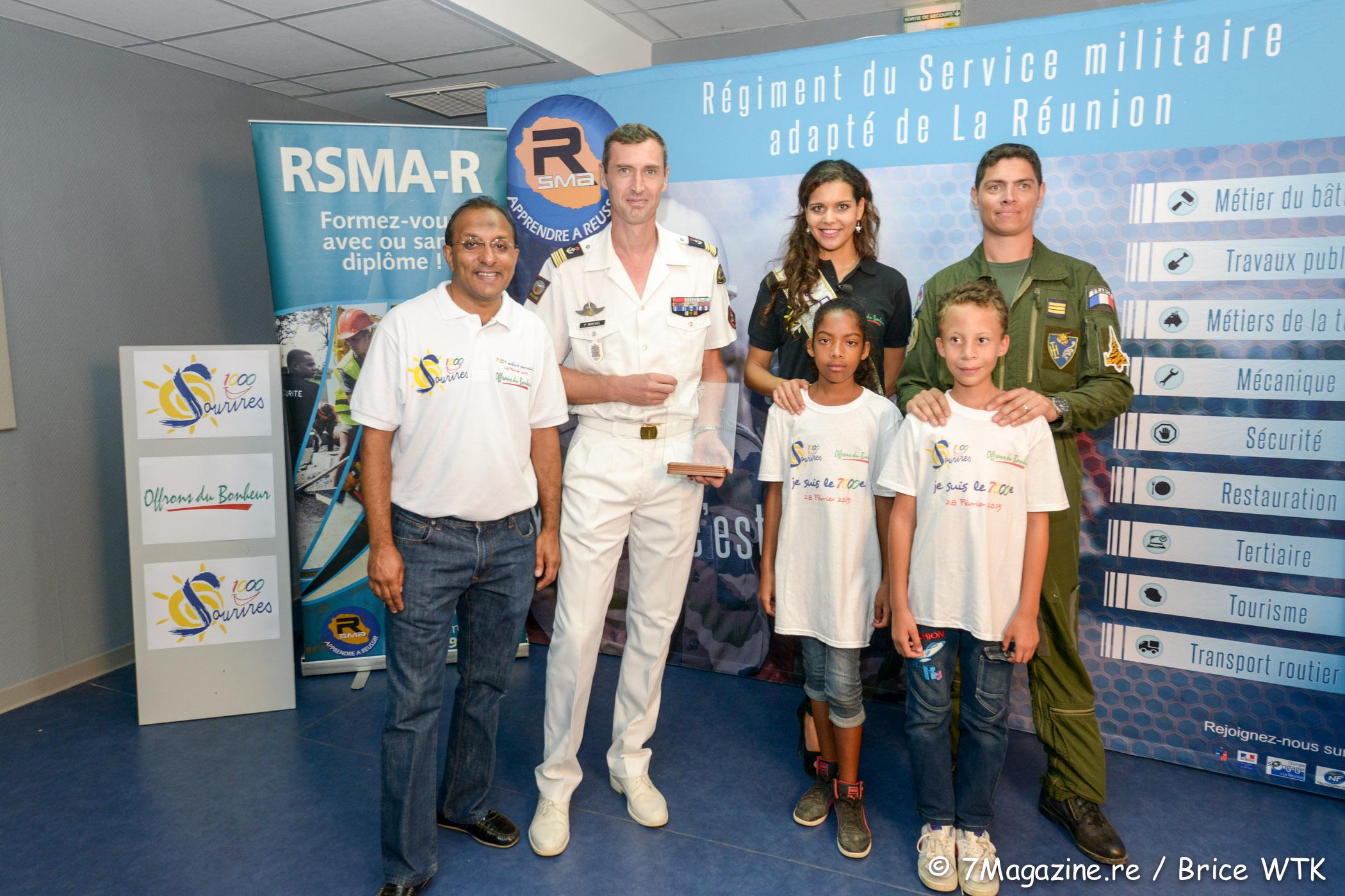 1000 Sourires au RSMA-R</br>7 000èmes enfants parrainés avec Vanille M'Doihoma et Sébastien Nativel
