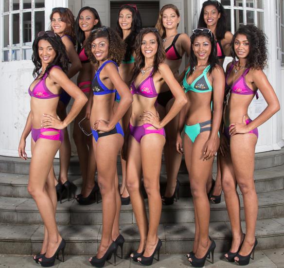 Miss Réunion Est ce samedi 14 mars <br> Les 10 candidates en maillot de bain