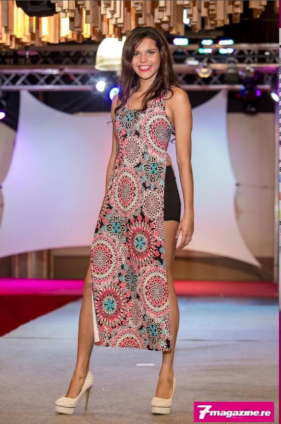 Vanille M'Doihoma, Miss Réunion 2013, a participé au show mode