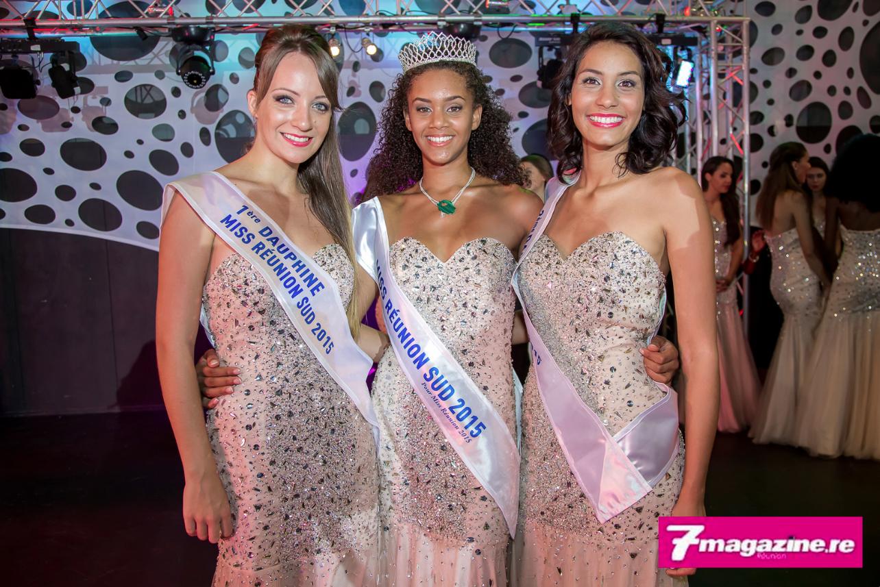 Steacy Sarpedon, Miss Réunion Sud 2015 avec ses deux dauphines, Orphelia Roger et Cécile Bègue