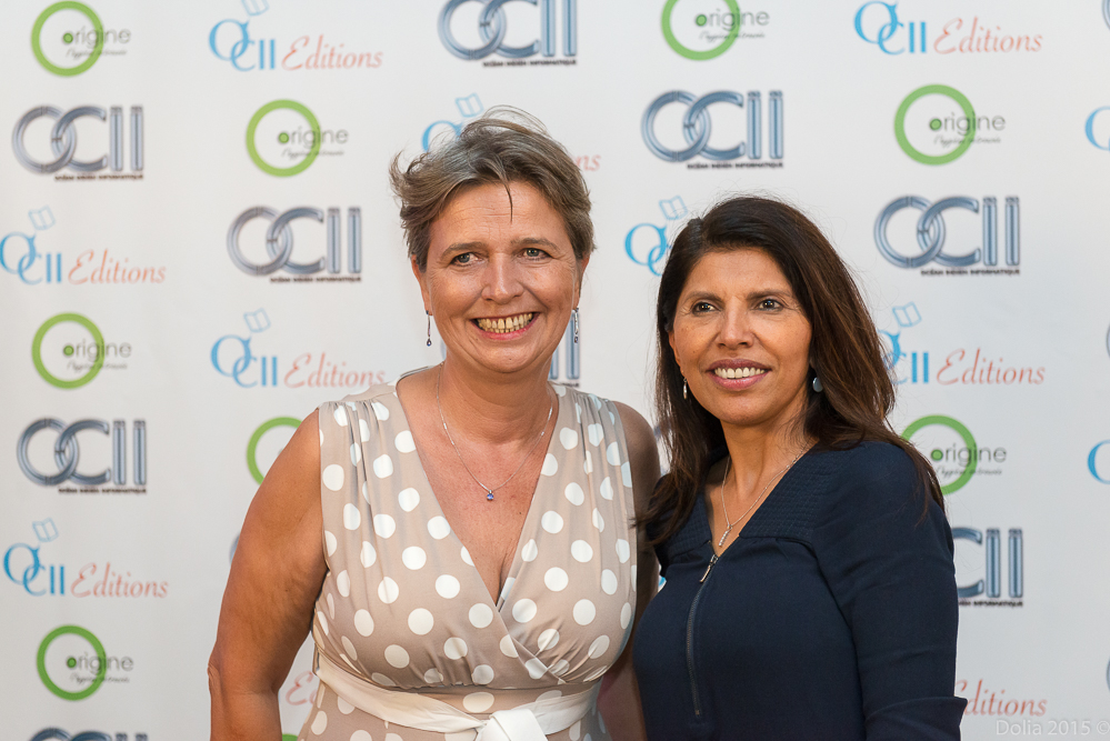 Myriam Boullay, gérante de OCII et Nassimah Dindar, présidente du Conseil Général