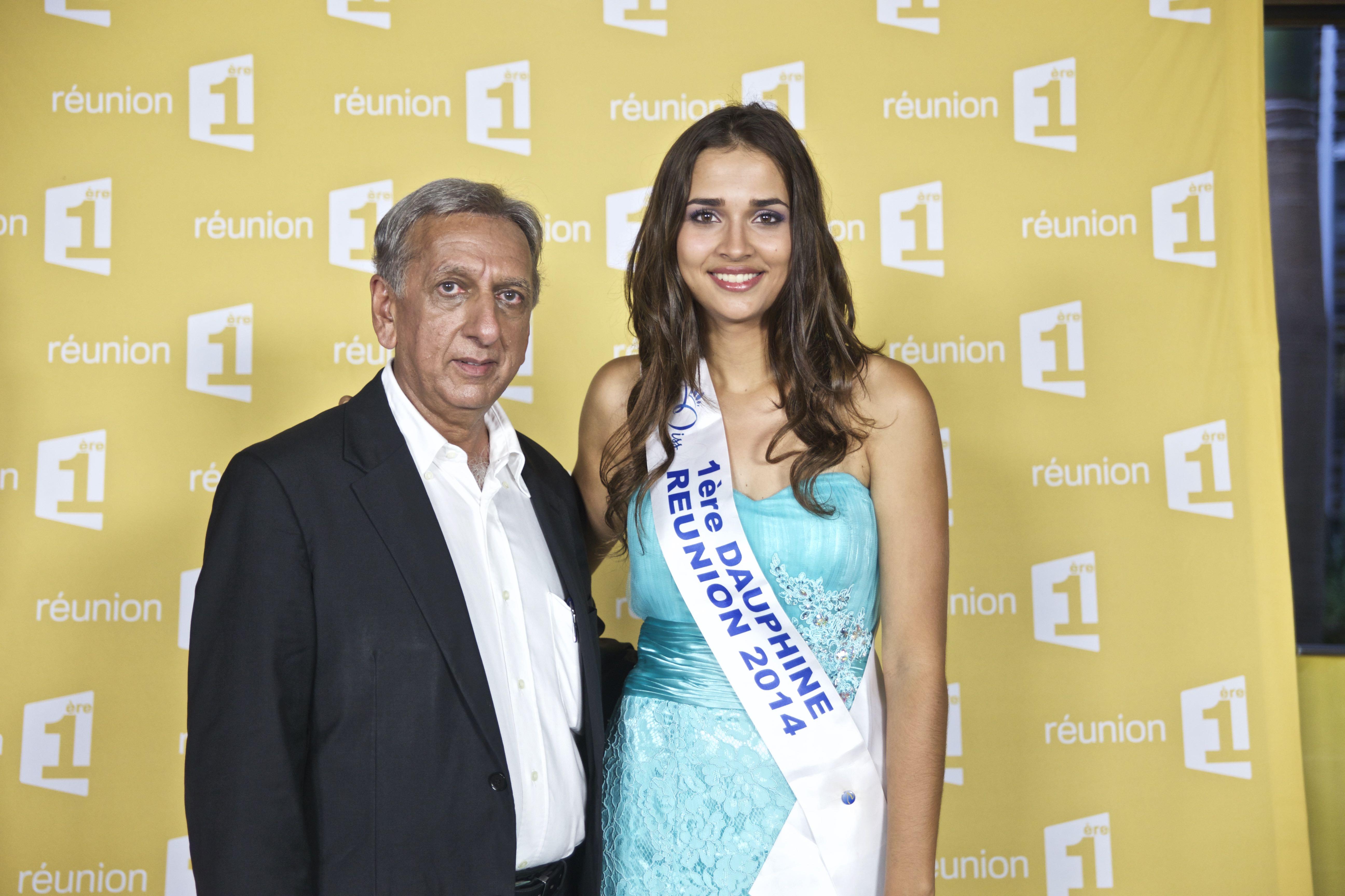 Aziz Patel, délégué Miss France et Anne-Gaëlle Laterrière