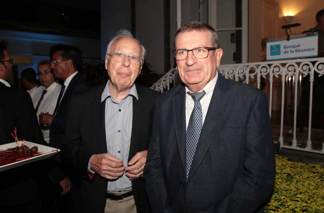 Xavier Thieblain et Dominique Fournel, vice-président de La Région Réunion