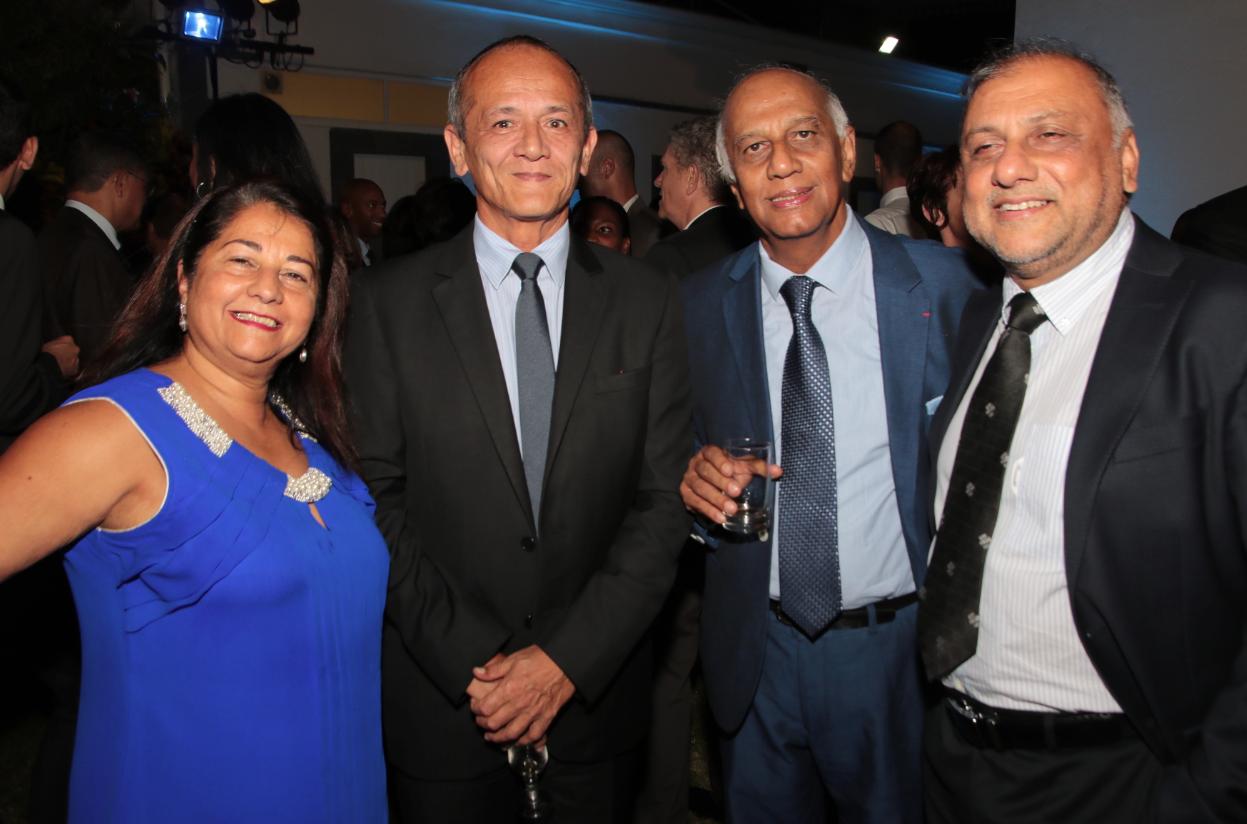 Rabia Badat, Loïc Armand sous-préfet de Saint-Pierre, Noor Locate PDG des établissements Locate et Osman Badat