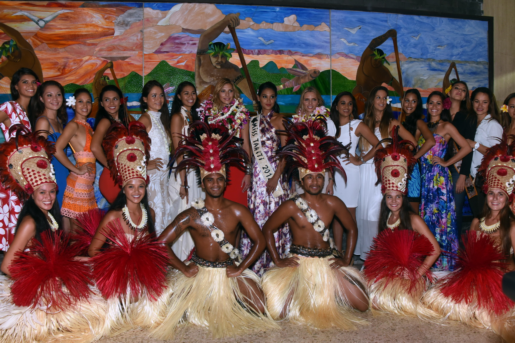 Les candidates Miss Tahiti 2015