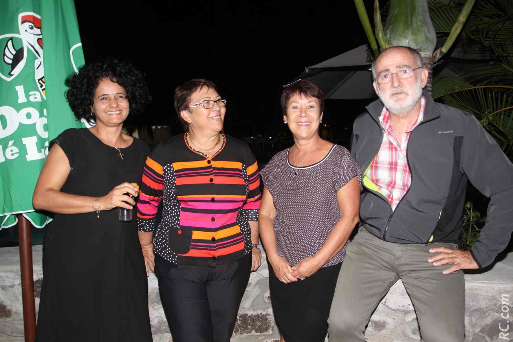 Véronique Bassire, Françoise Fontaine, Ruffine Belvisée, et Jean Yves Langlois, ex-membre CCEE