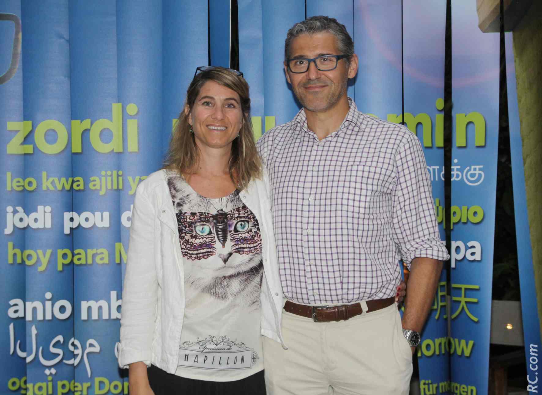 Nicolas Sadoul et son épouse