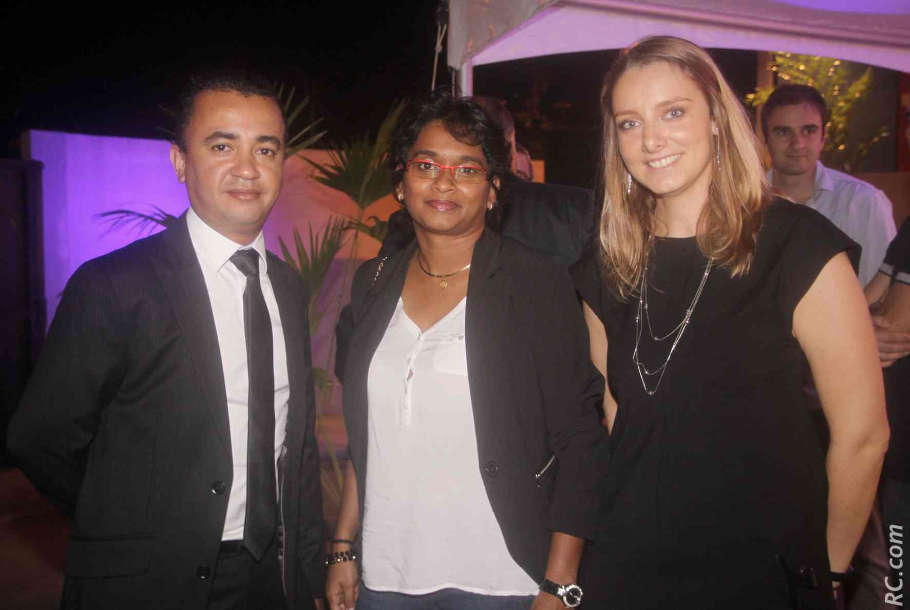 Didier Radavidra, Emmanuelle Hoarau, Deputy General Manager CMA CGM, et Aurélie Noëlle de l'Agence Didier Radavidra