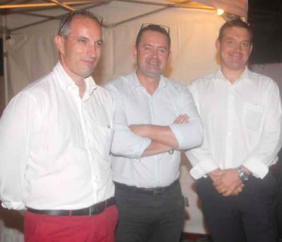 Patrice Arnoult, gérant Interlinge, Philippe Chardot, Inspecteur Patrimoine Allianz, et Jean Deleflie, gérant Réuniblanc
