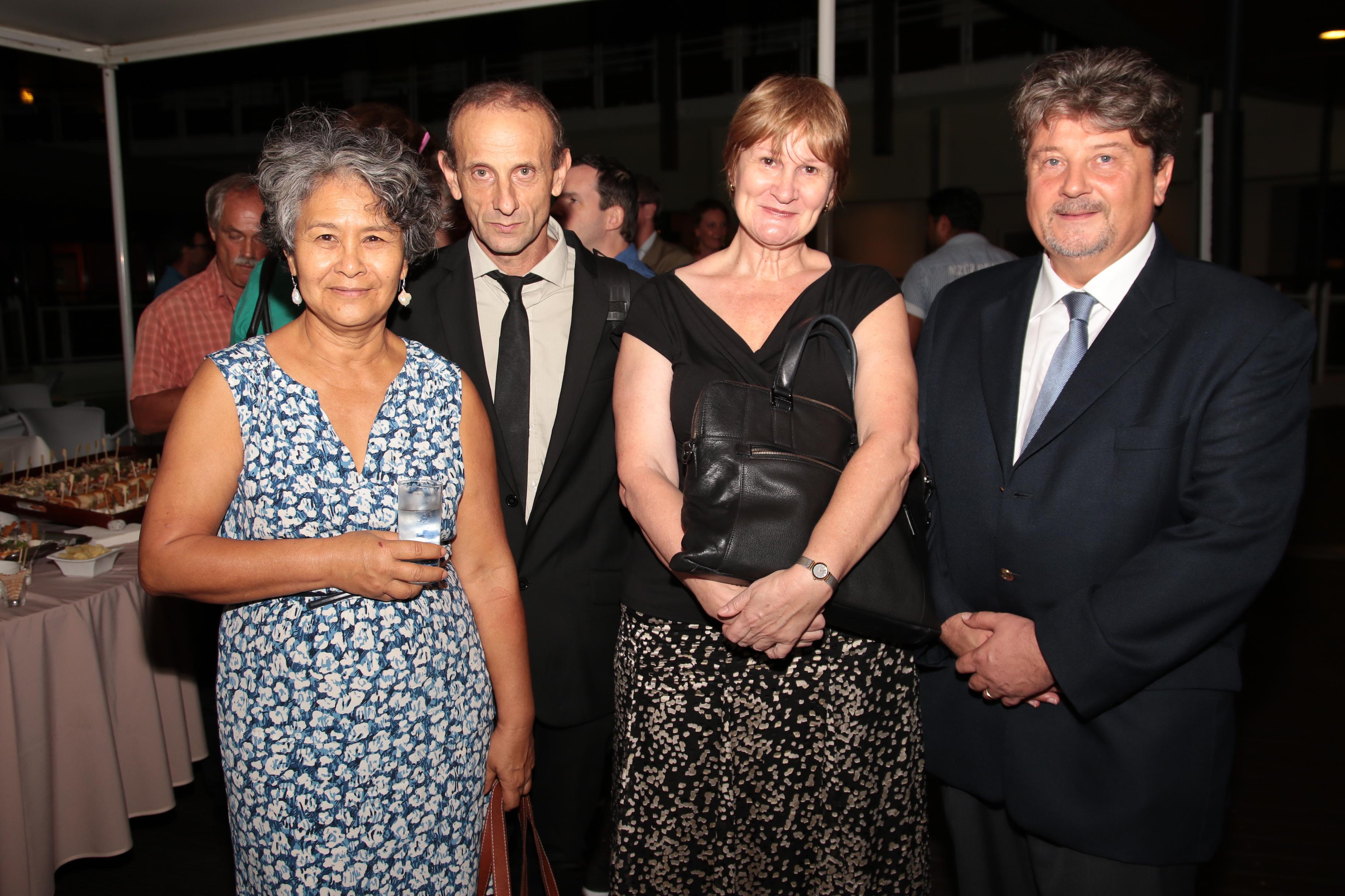 Myrna Dalleau, IA-IPR d'anglais, Pascal Schrapffer, Doyen IA-IPR de Sciences physiques, Helen Cécil, IA-IPR d'anglais, et Philippe Marciniak
