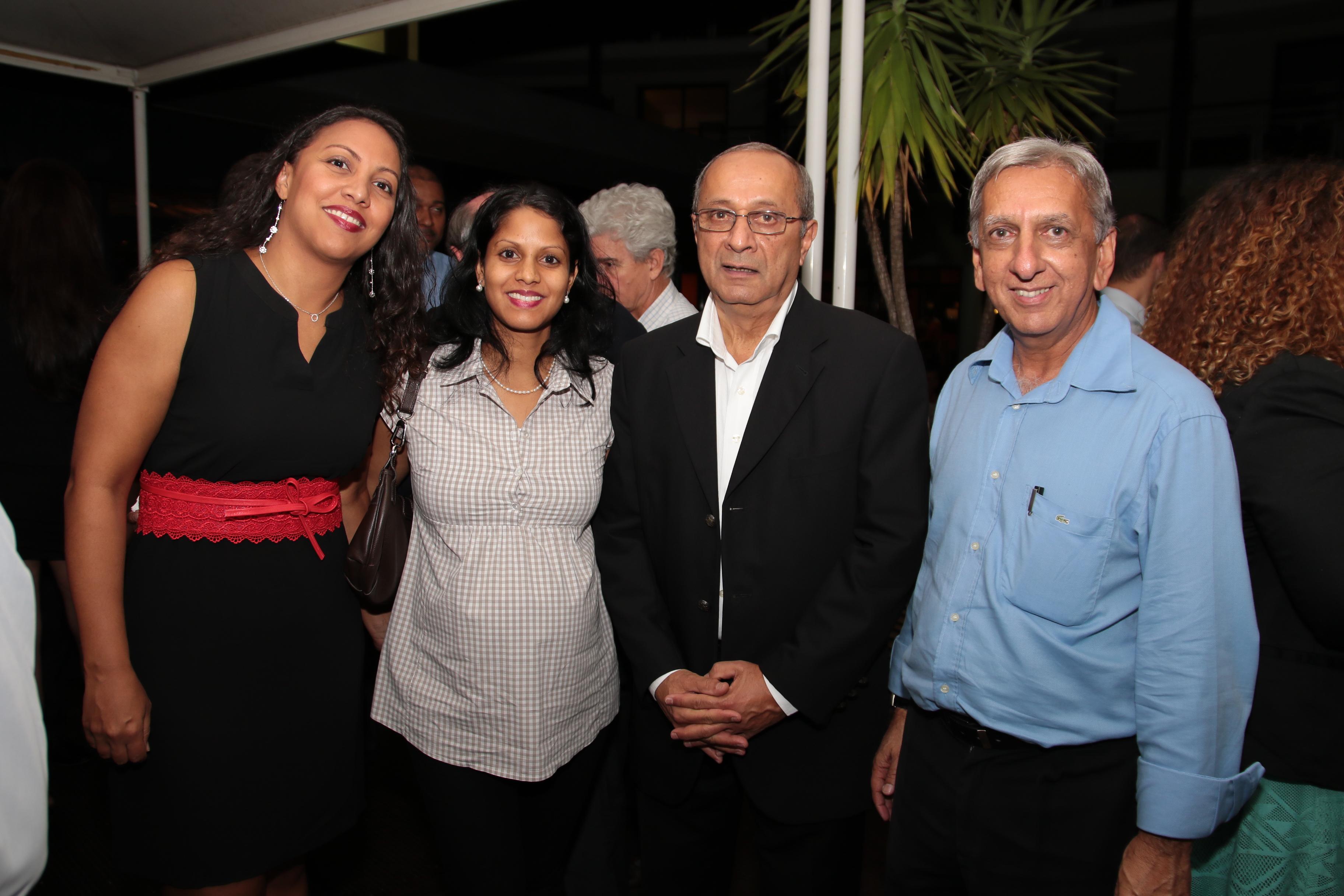 Erika Rafougilet, Assistante RH Ecoré, Audrey Pony, Gestionnaire RH Automobiles Réunion, Rafik Cassam-Chenaï et Aziz Patel