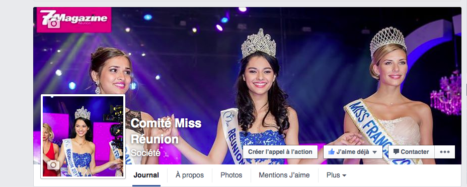 Capture d'écan Facebook Comité Miss Réunion