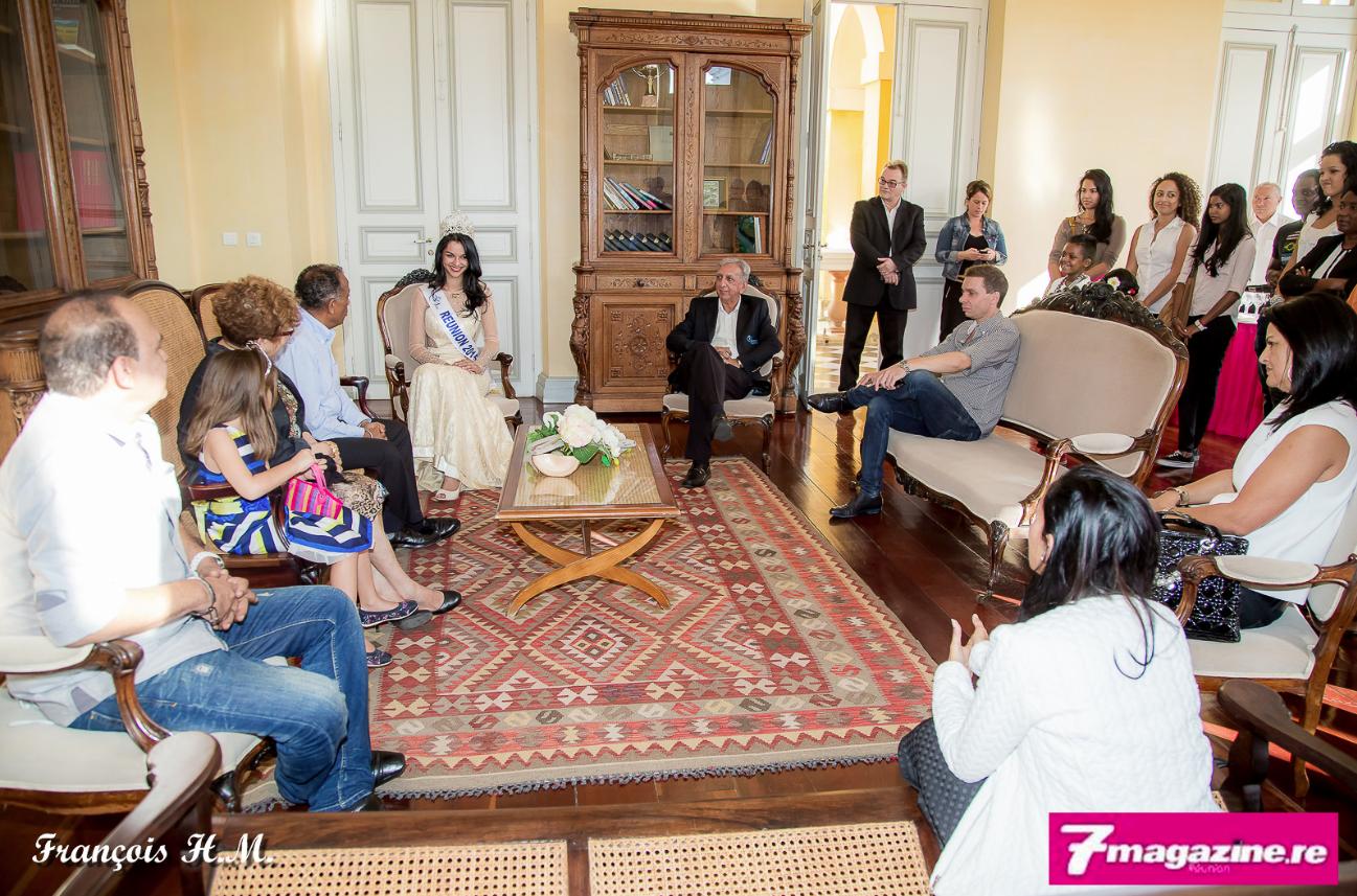 Famille, amis, journalistes et le Comité Miss Réunion avaient été conviés