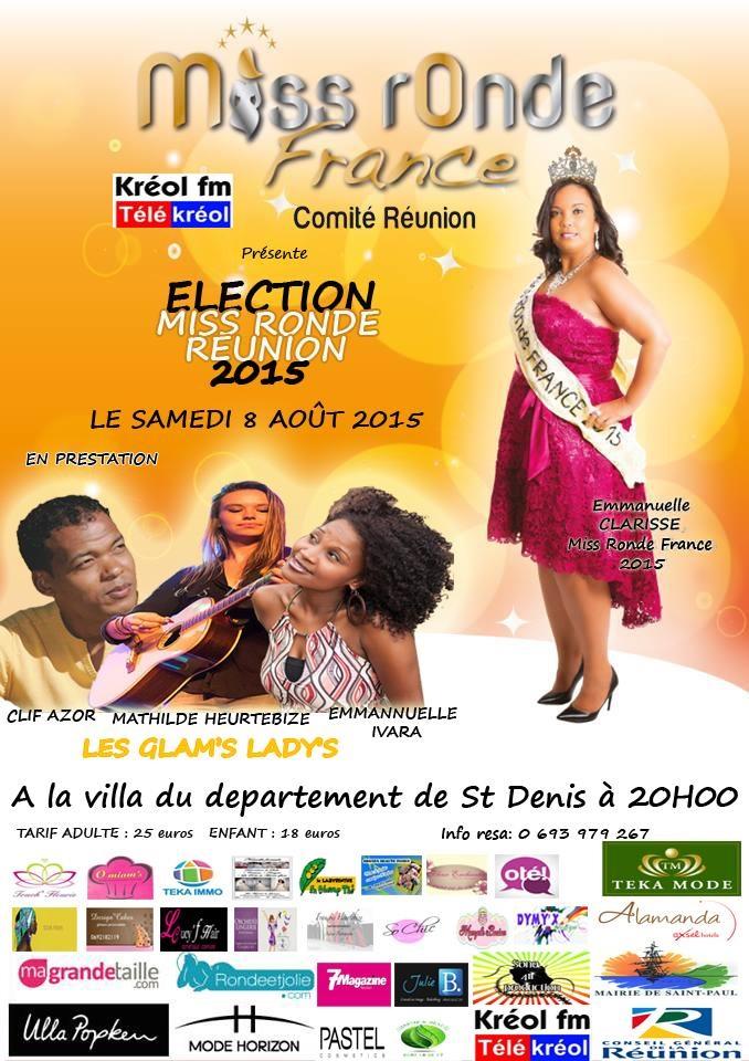 Miss Ronde Réunion 2015<br>Les 10 candidates