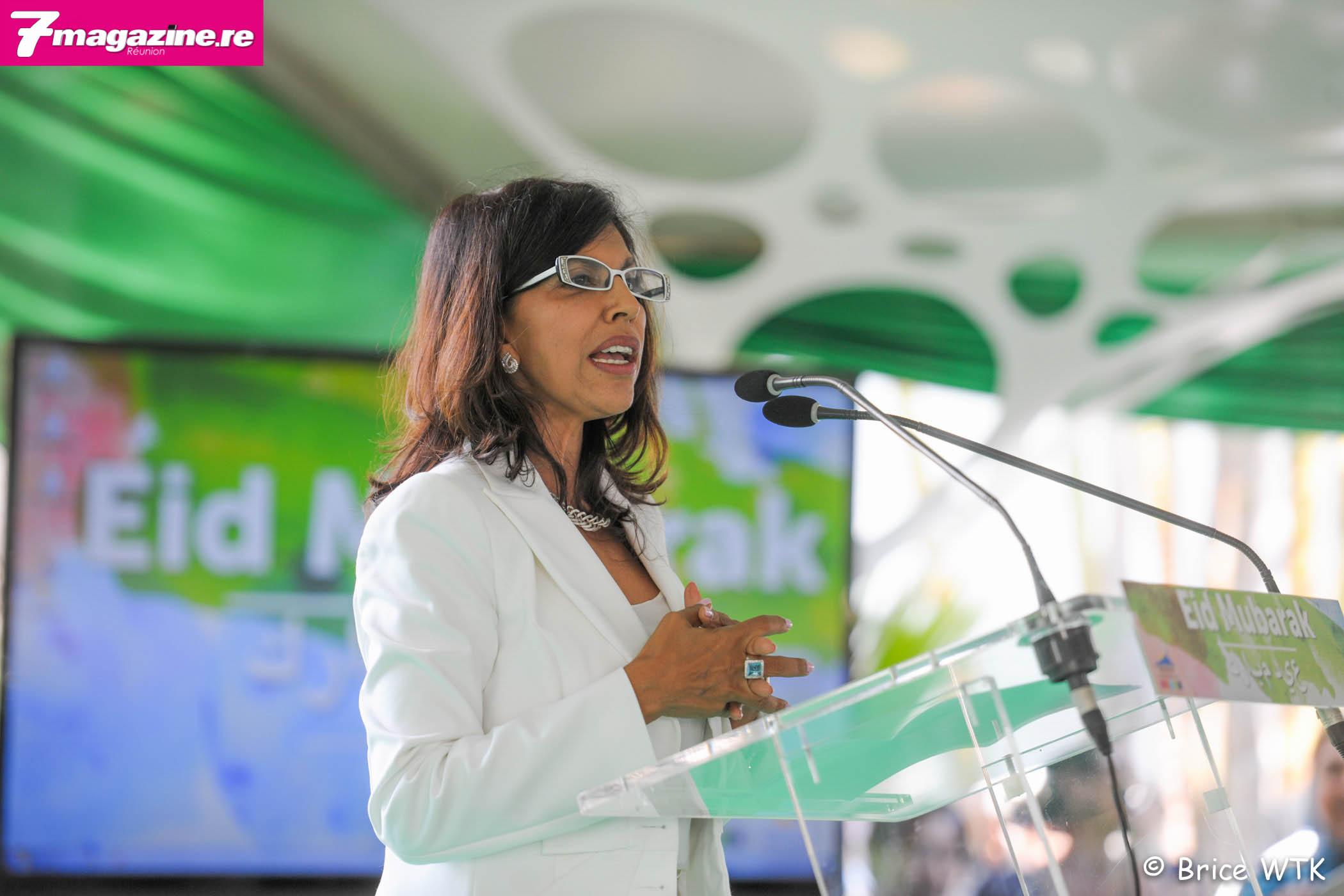Fête de l'Eid à la Villa du Département <br>Miss Réunion invitée par la présidente Nassimah Dindar