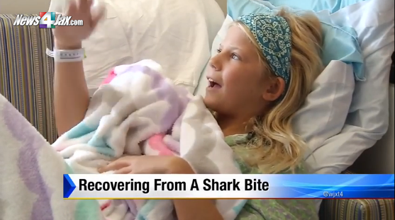A 10 ans, attaquée par un requin elle sauve aussi son amie