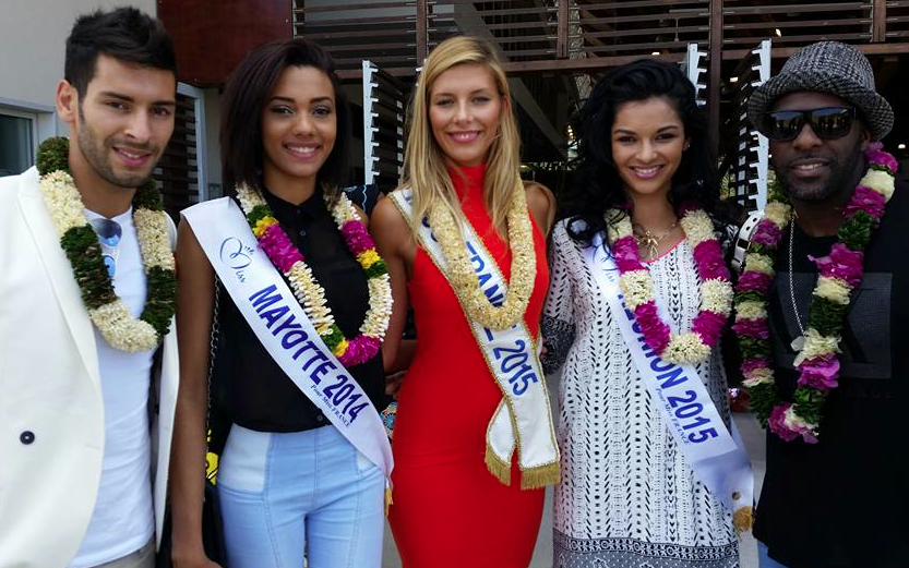 Miss France et Miss Réunion à Mayotte
