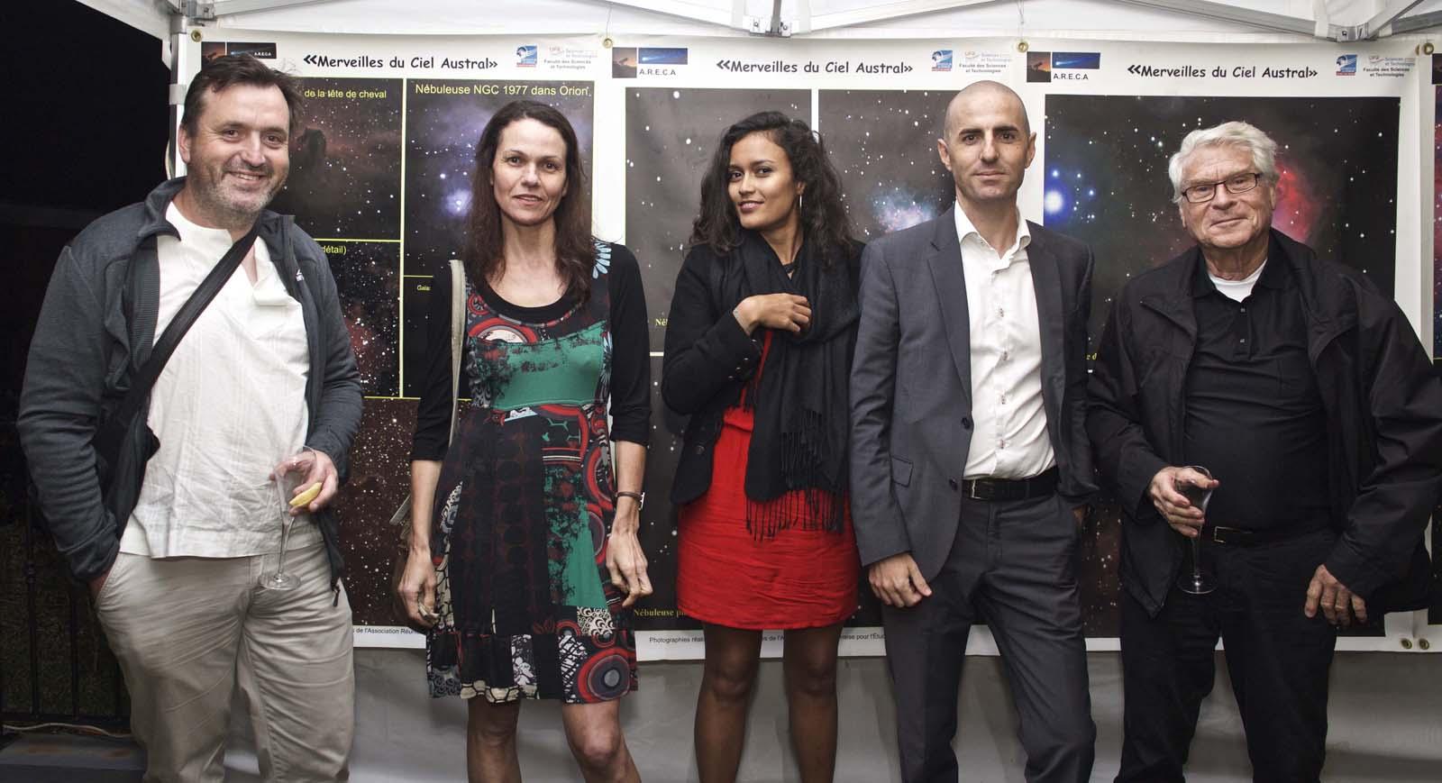 Gilles Adt, ornitho-photographe, Joëlle Ecormier, écrivain, Geoffrey Serra et Gérard Hessler