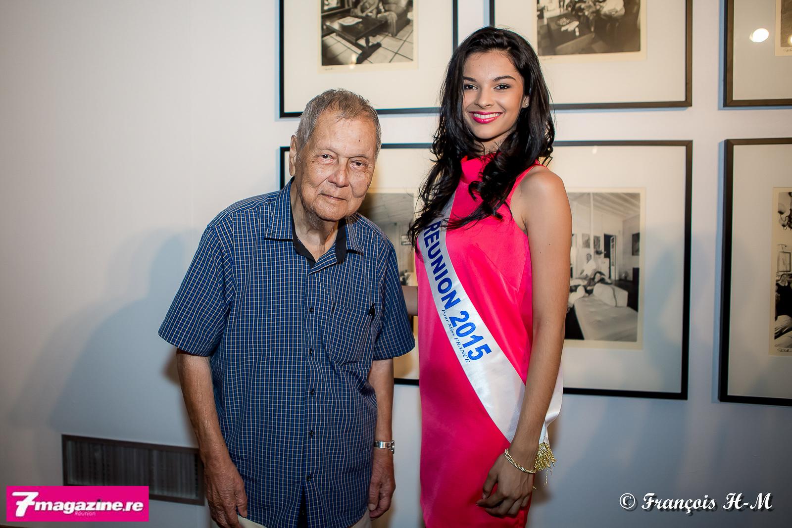 Paul Vergès a félicité Azuima Issa pour son titre de Miss Réunion...