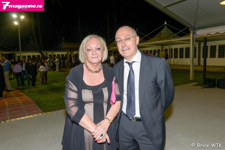 Madame Aude et Christian Valette, directeur de la Caisse Régionale du Crédit Agricole