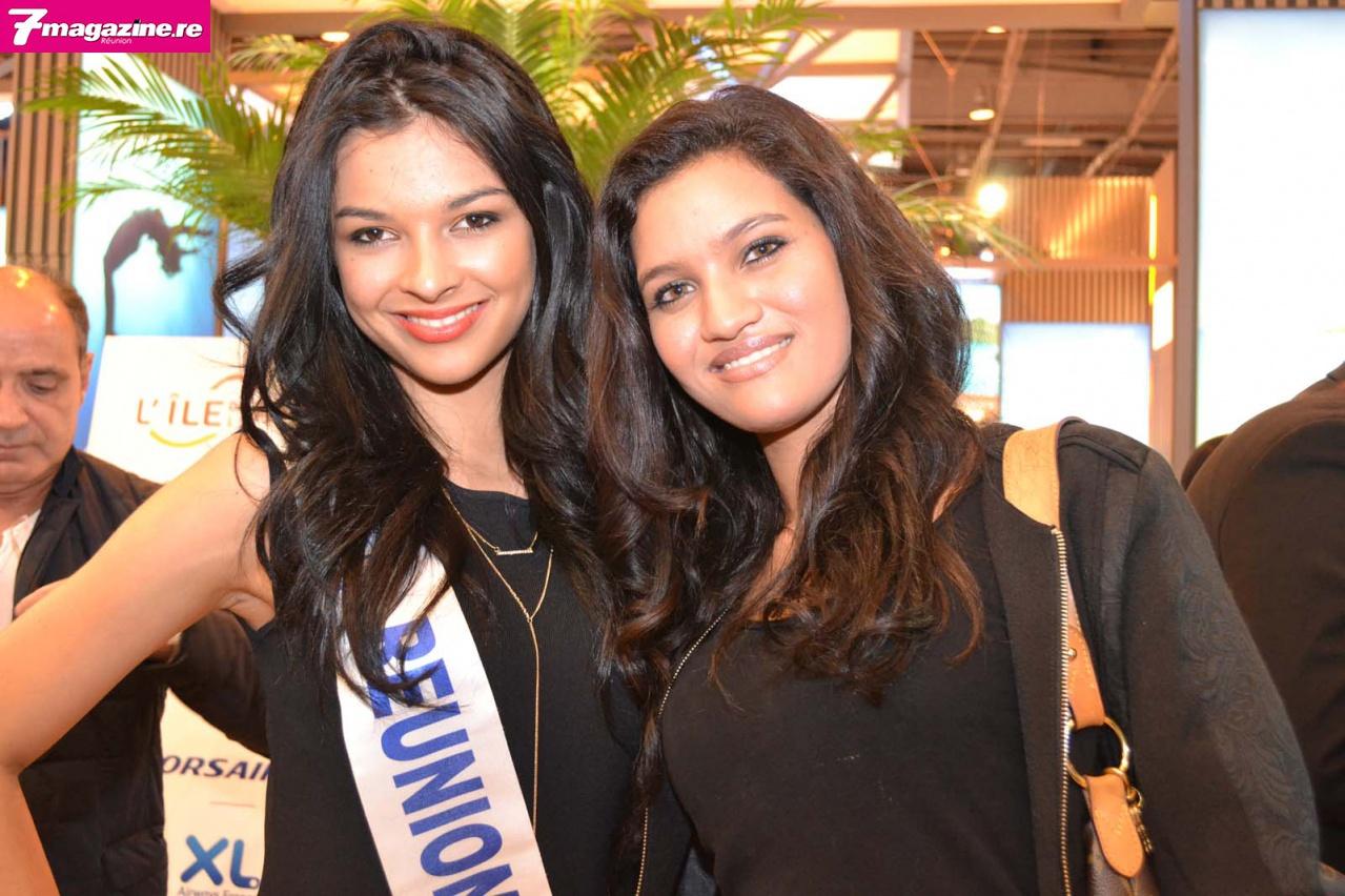 Azuima avec Ophélie Sommer, candidate Miss Réunion 2013, désormais installée à Paris