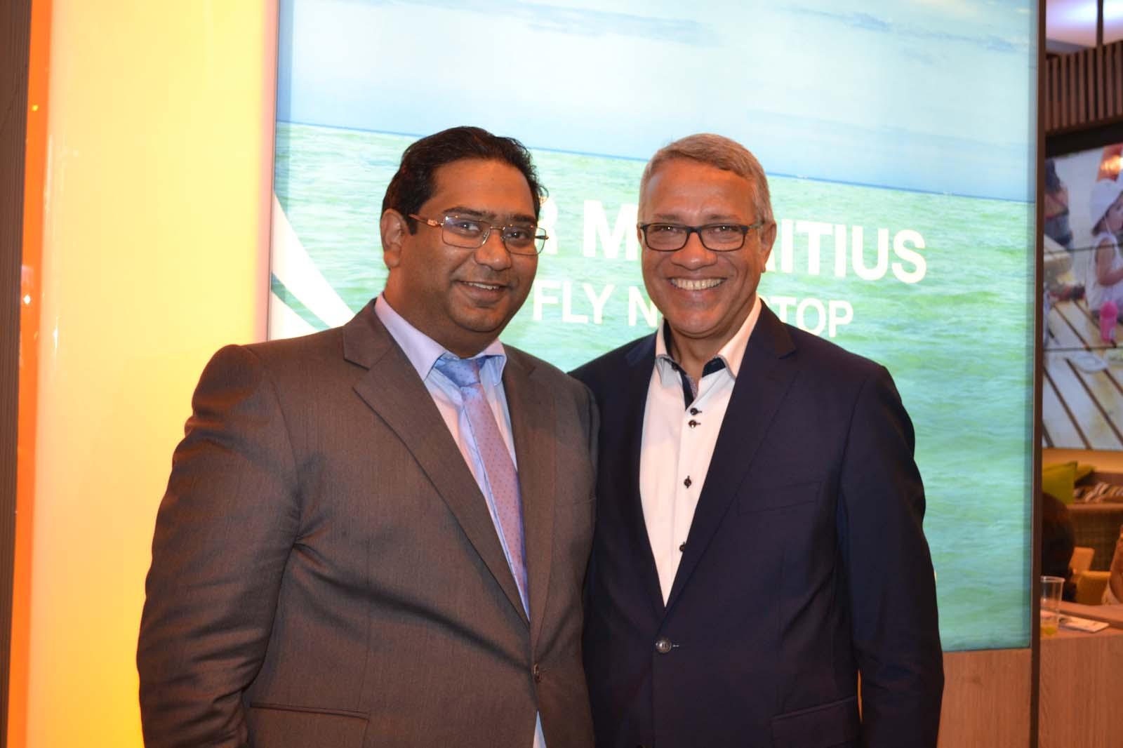 Kevin Ramkaloan, directeur MTPA (Ile Maurice) et Philippe Hitié, directeur général Summertimes