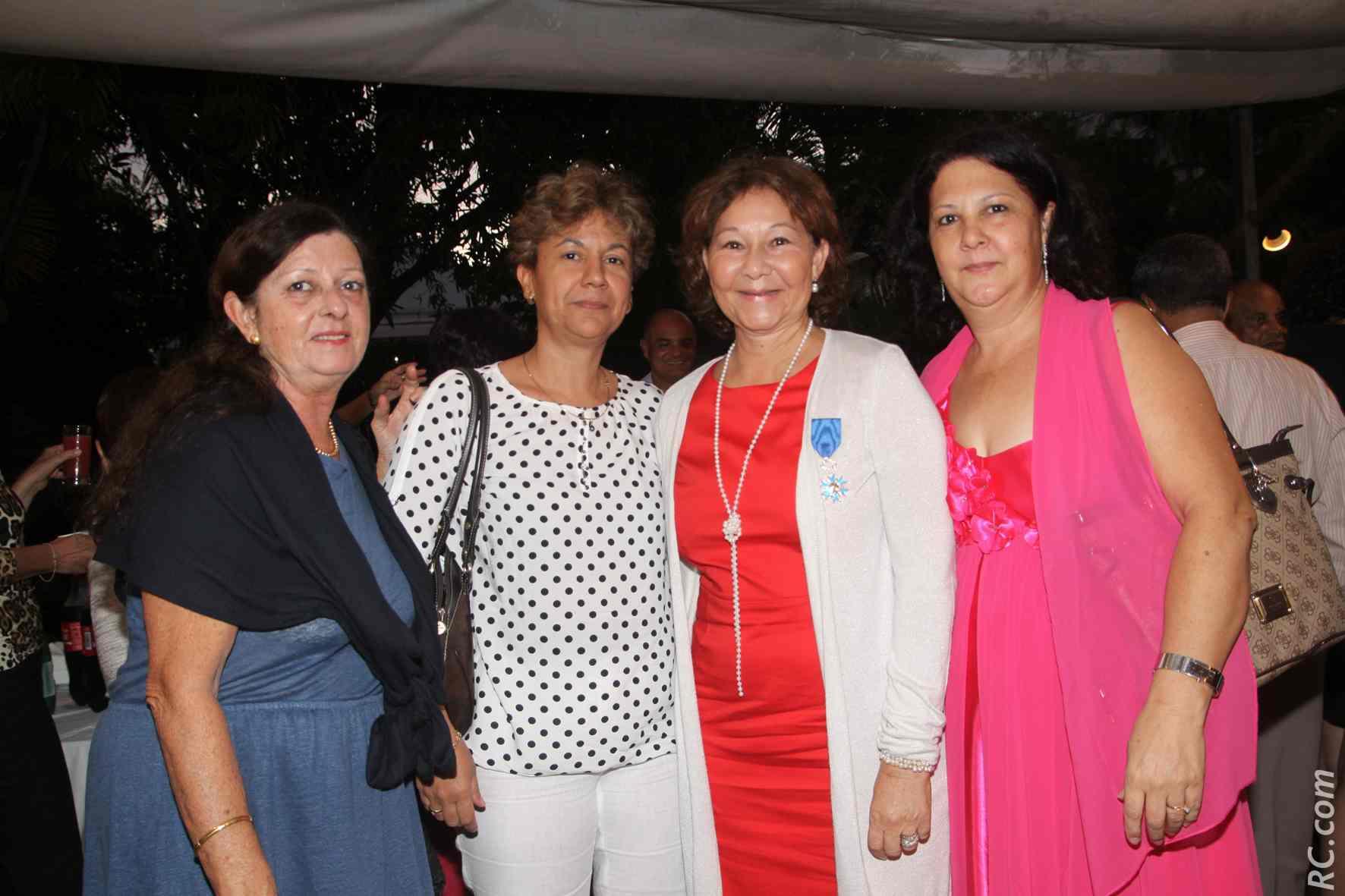 Chantale Grégoire, secrétaire générale FO Préfecture, Véronique Wailliez, Ginette Azélie et Marie Lyse Catherine, sous-préfecture de Saint-Paul