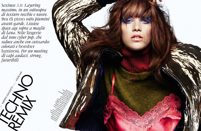 Pauline Hoarau: un sublime shooting pour Elle Italie