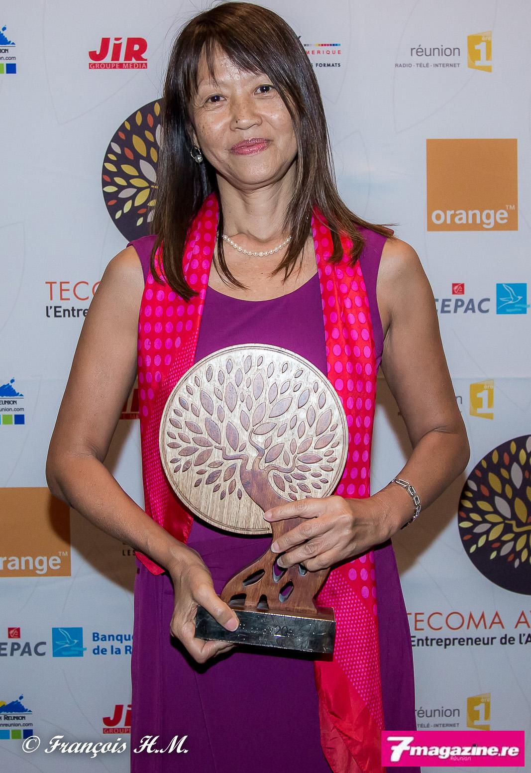 Marie-Rose Won-Fah-Hin de l'AURAR, lauréate 2015 du Tecoma Award