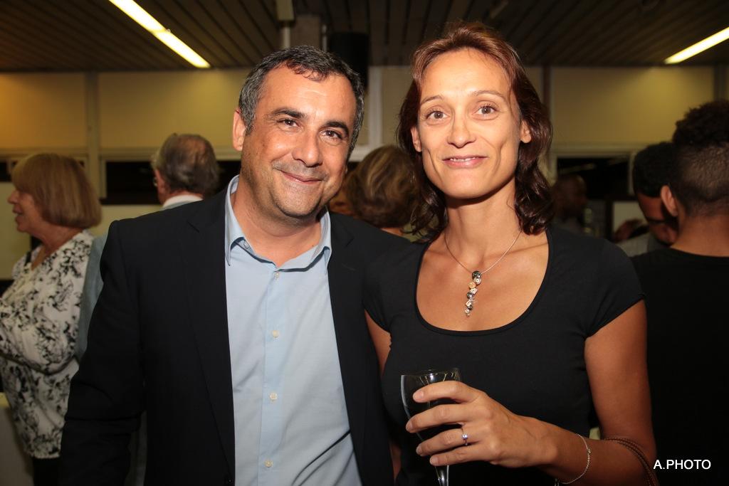 Olivier Bajard, directeur de la SHLMR, et son épouse