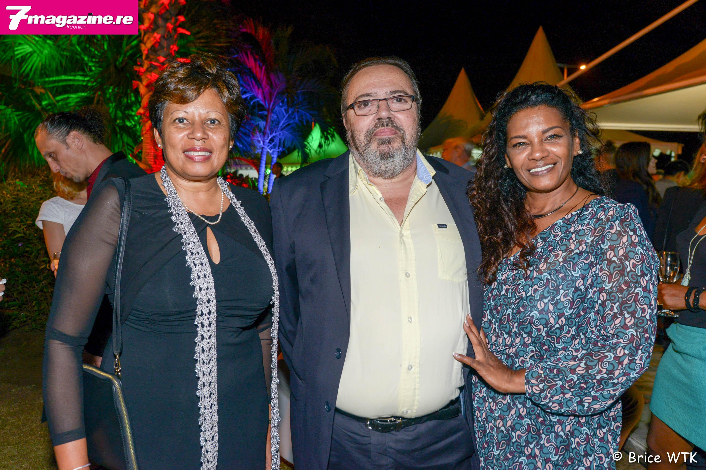 Chantal Ambroise, Michel Fontaine, sénateur-maire de Saint-Pierre, et sa compagne Pierrette