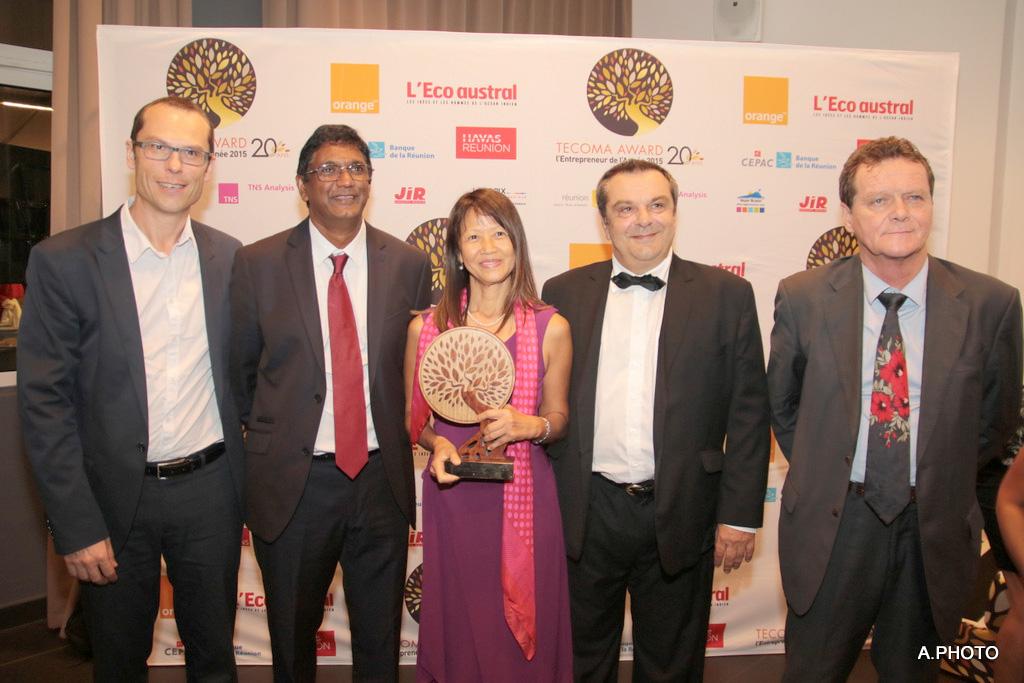 Marie-Rose Won-Fah-Hin, fière de son trophée