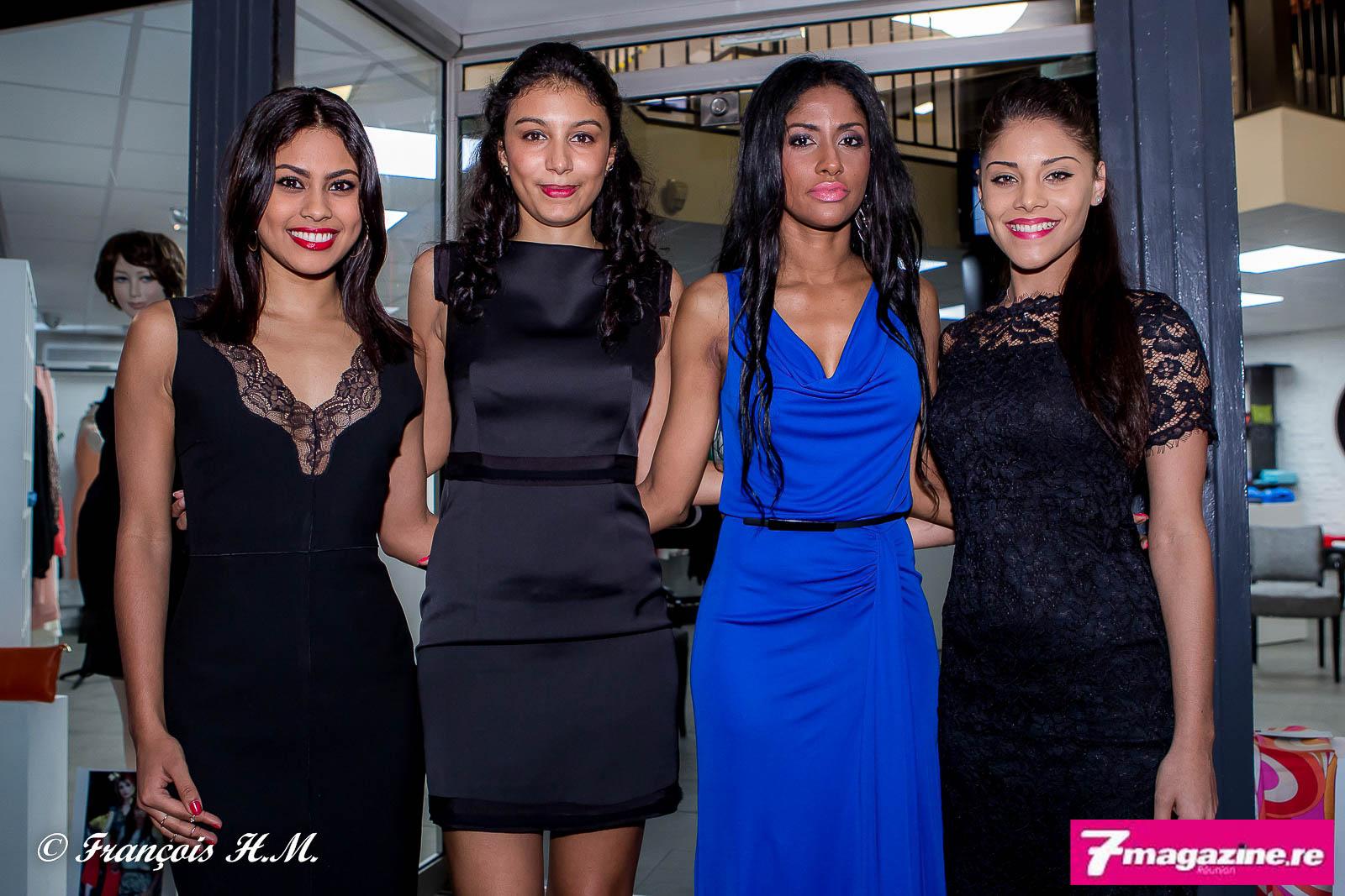 Shirley avec les hôtesses de la soirée, Ludwina, Anaïs et Océane